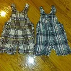 2 OshKosh shorts Overalls